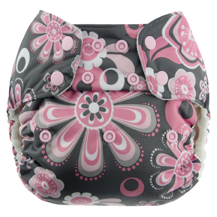 blueberry one size diaper - petals