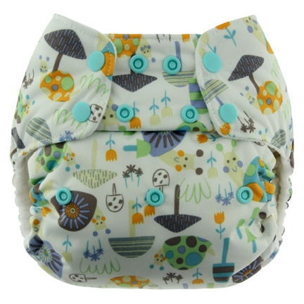 blueberry one size diaper - snail