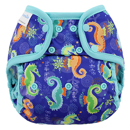 blueberry coveralls diaper cover - Seahorse