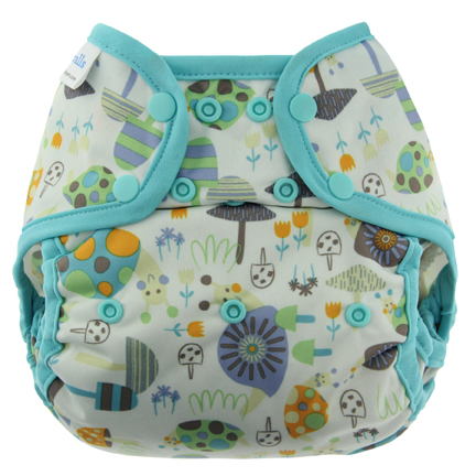 blueberry coveralls diaper cover - Snails
