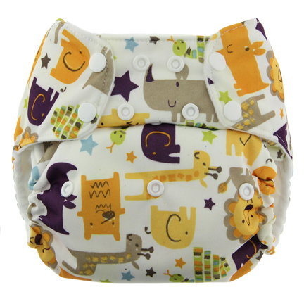 blueberry one size diaper - jungle jam