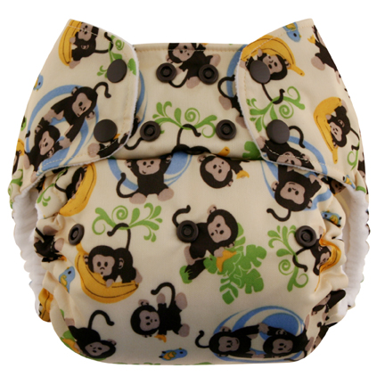 blueberry one size diaper - monkys