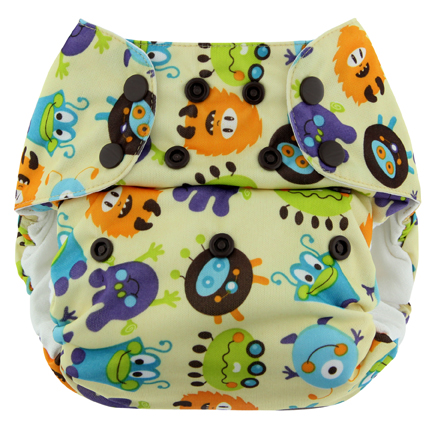 blueberry one size diaper - monster