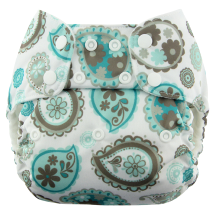 blueberry one size diaper - paisley