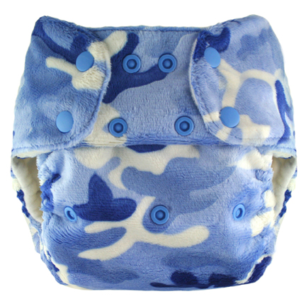 blueberry one size diaper - blue camo