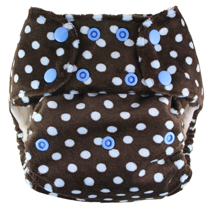 blueberry one size diaper - blue on choco