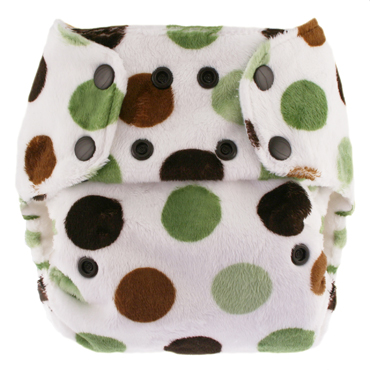 blueberry one size diaper - mint patty