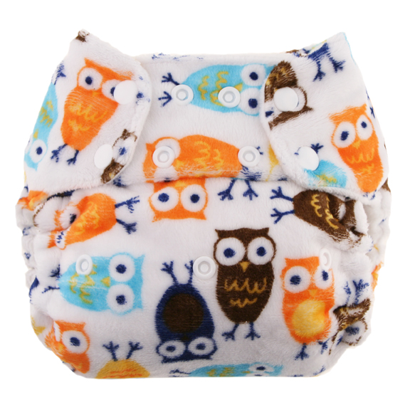 blueberry one size diaper - owls
