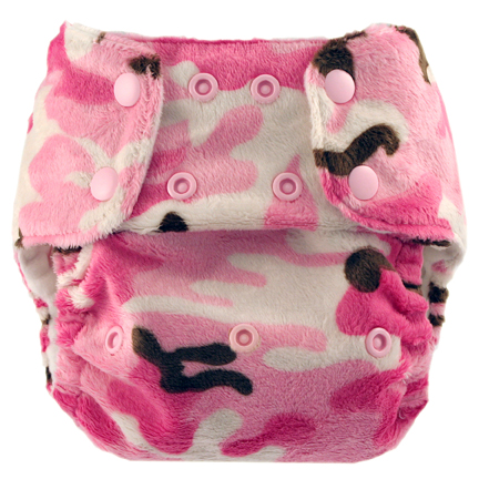 blueberry one size diaper - pink camo