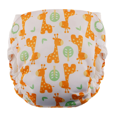 Blueberry Side Snap Simplex 2.0 All In One Diaper - Giraffe