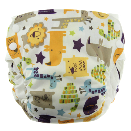 Blueberry Side Snap Simplex 2.0 All In One Diaper - Jungle Jam