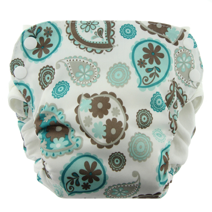 Blueberry Side Snap Simplex 2.0 All In One Diaper - Paisley