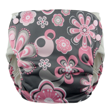 Blueberry Side Snap Simplex 2.0 All In One Diaper - Petals