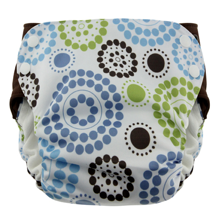 Blueberry Side Snap Simplex 2.0 All In One Diaper -  Round About