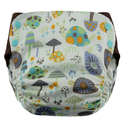 Blueberry Side Snap Simplex 2.0 All In One Diaper - Snails