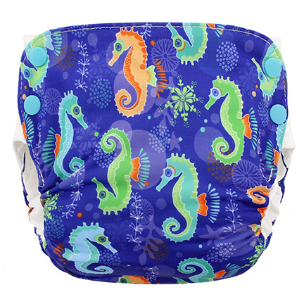Blueberry Side Snap Simplex 2.0 All In One Diaper -