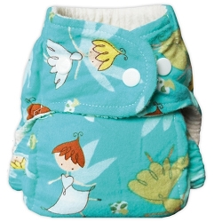 bummis one size flannel fitted diaper - Faeries