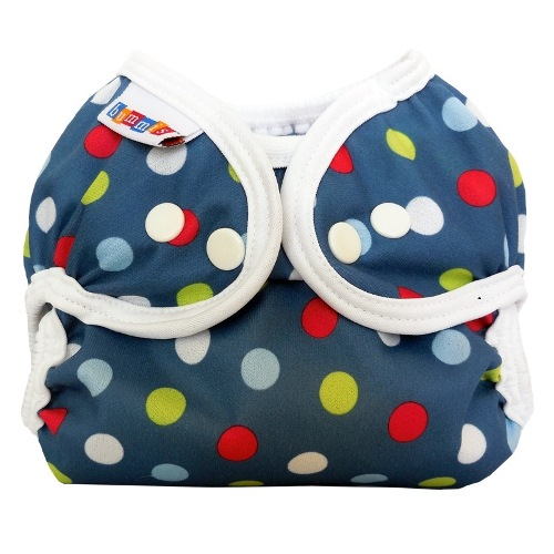 bummis simply lite diaper cover - Denim Dot