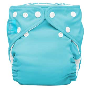 charlie banana one size cloth diaper - aqua