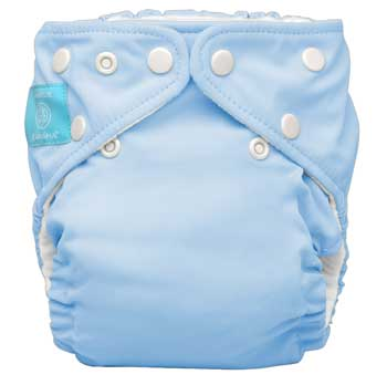 charlie banana one size cloth diaper - baby blue
