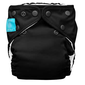 charlie banana one size cloth diaper - black