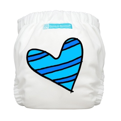 charlie banana one size cloth diaper - Blue Petit Coeur