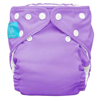 charlie banana one size cloth diaper - lavender