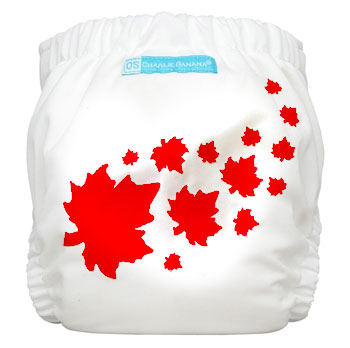 charlie banana one size cloth diaper - maple leaf