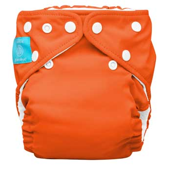 charlie banana one size cloth diaper - orange