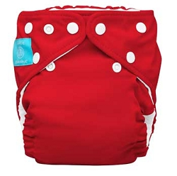 charlie banana one size cloth diaper - red