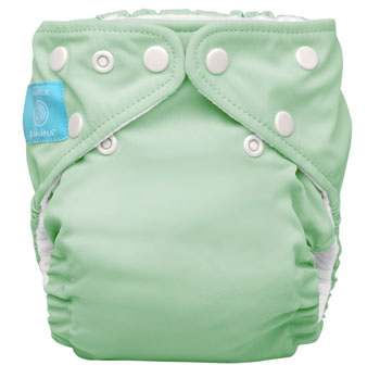 charlie banana one size cloth diaper - sage