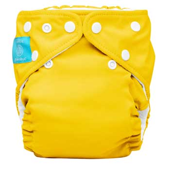 charlie banana one size cloth diaper - yellow