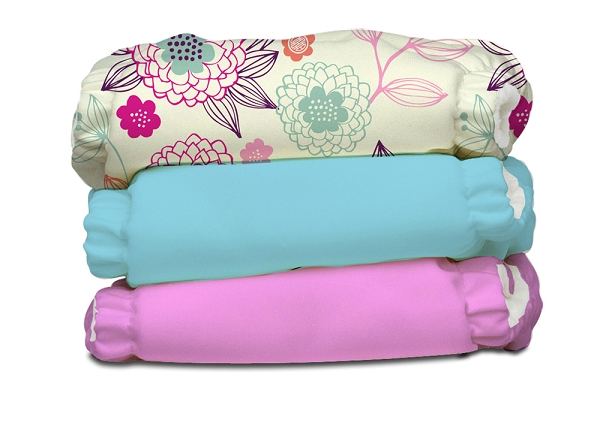 charlie banana one size cloth diaper value pack -   Peony Blossom