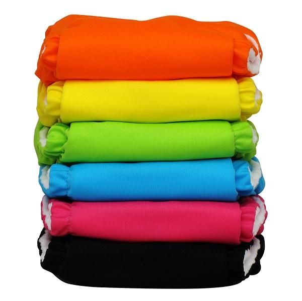charlie banana one size cloth diaper value pack - tutti frutti