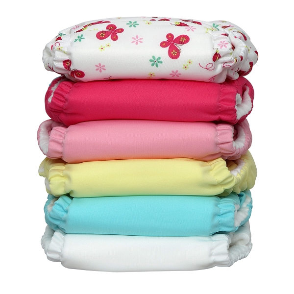 charlie banana one size cloth diaper value pack - butterfly