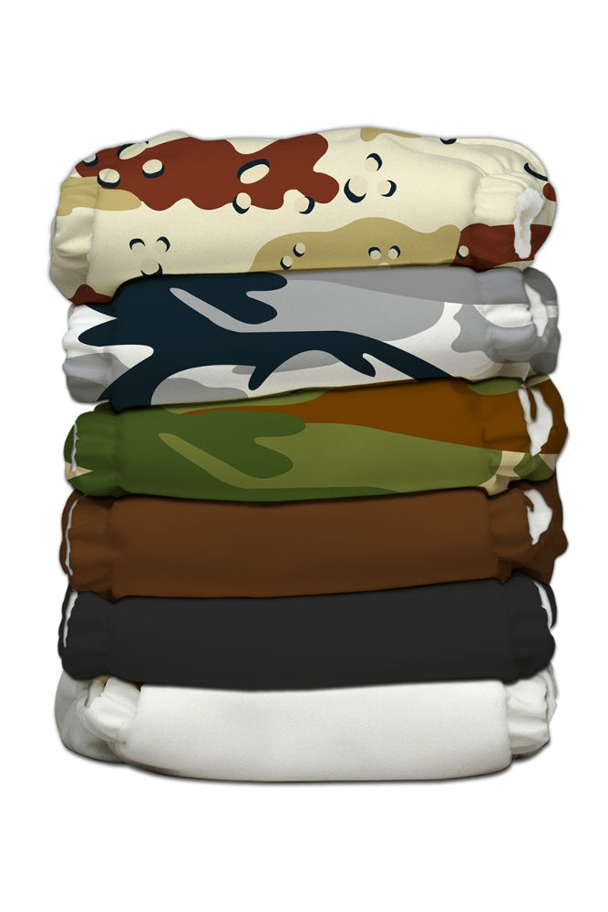 charlie banana one size cloth diaper value pack -  boot camp