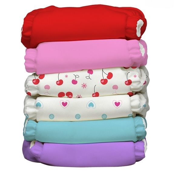 charlie banana one size cloth diaper value pack - Sweet Cherries