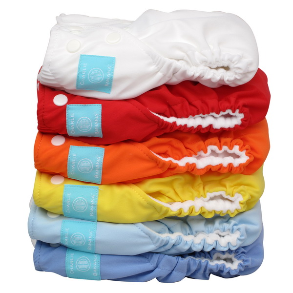 charlie banana one size cloth diaper value pack - unisex hot