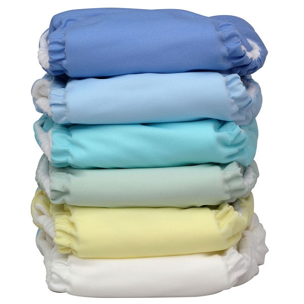 charlie banana one size cloth diaper value pack - unisex pastel