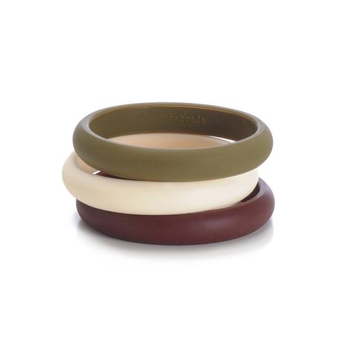 chewbeads - skinny charles teething bracelet - brown