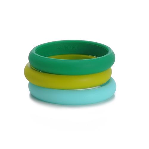 chewbeads - skinny charles teething bracelet - green