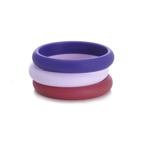 chewbeads - skinny charles teething bracelet - purple