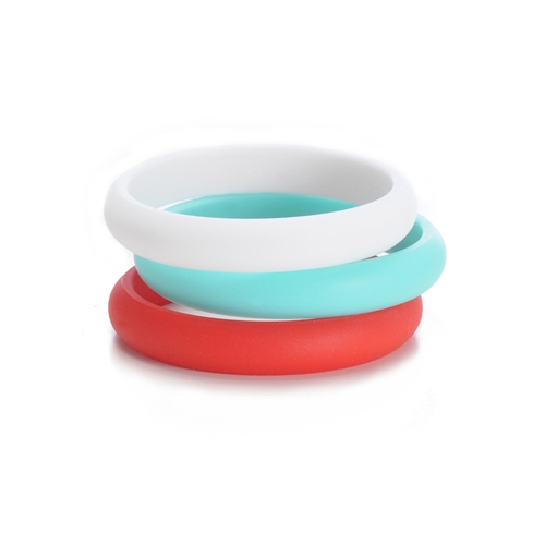chewbeads - skinny charles teething bracelet - red