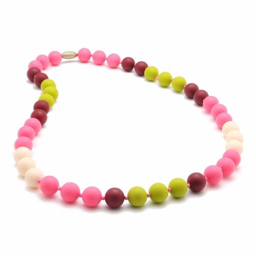 chewbeads - bleecker teething necklace - pink
