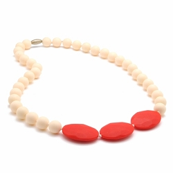 chewbeads - greenwich teething necklace - ivory