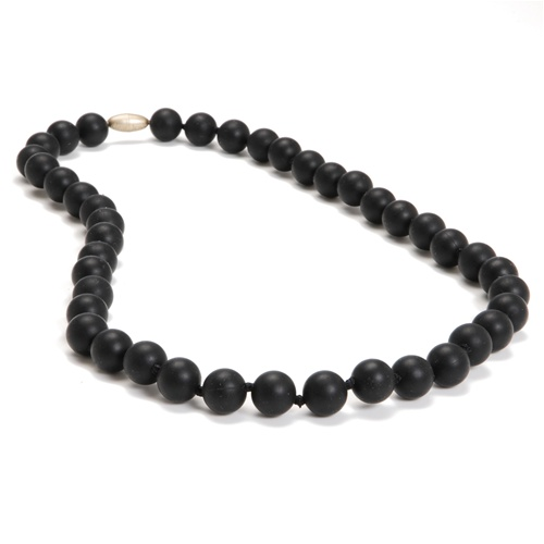 chewbeads - jane teething necklace - black