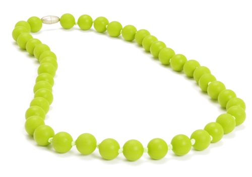 chewbeads - jane teething necklace - Chartreuse