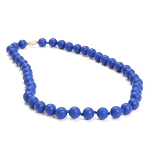 chewbeads - jane teething necklace - cobalt