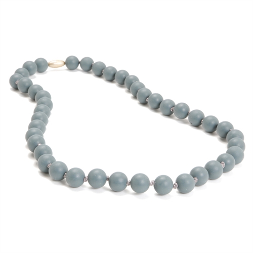 chewbeads - jane teething necklace - grey