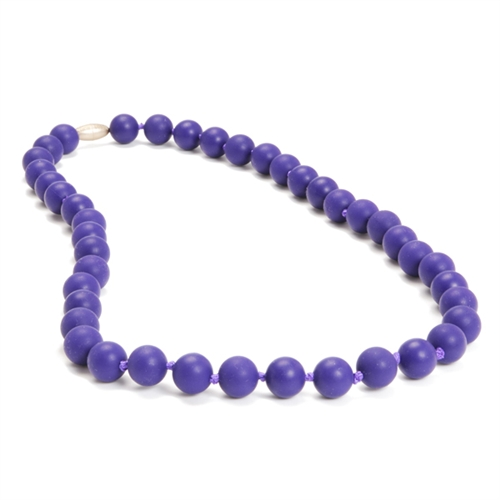 chewbeads - jane teething necklace - purple